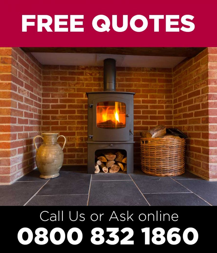 Wood burning stove installation and fitting quotes by Hetas Engineer