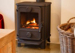Wood burning stove installations