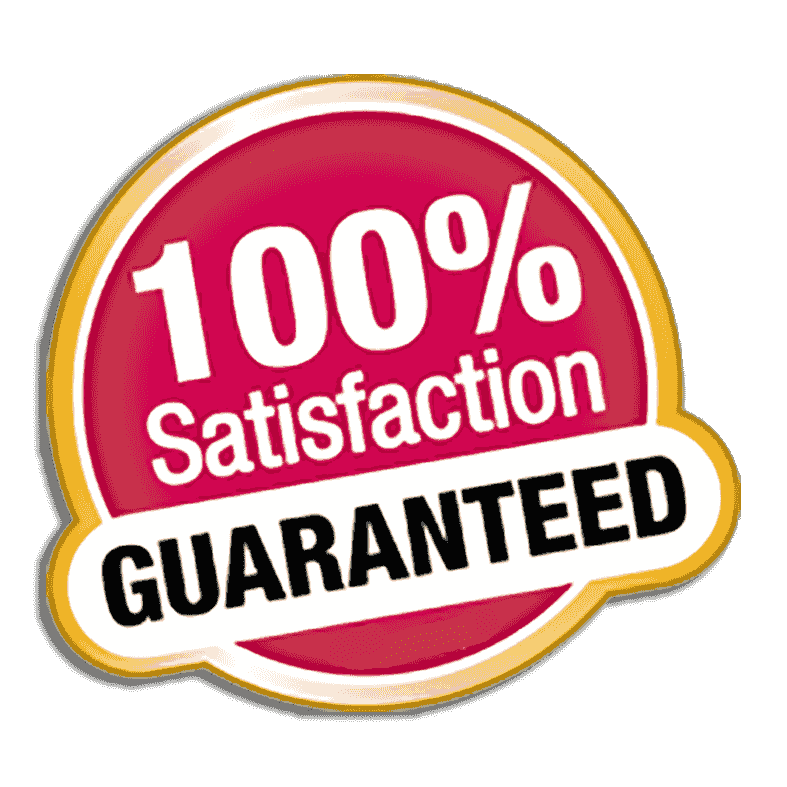 satisfaction guarantee for stove installation