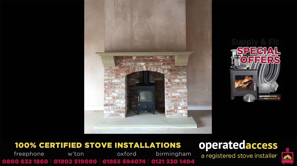 Hetas Engineer UK Midlands stove installation and fitting video