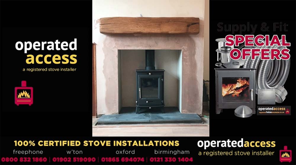 Hetas installer Bedford - wood burning stove installation by Hetas Engineer UK