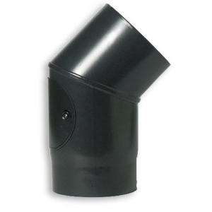 "45 Degree Bend 6"" VITREOUS Enamelled Flue Pipe with sweep door"