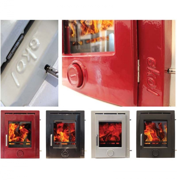 Ekol inset 5 woodburning stove 5kw various colours