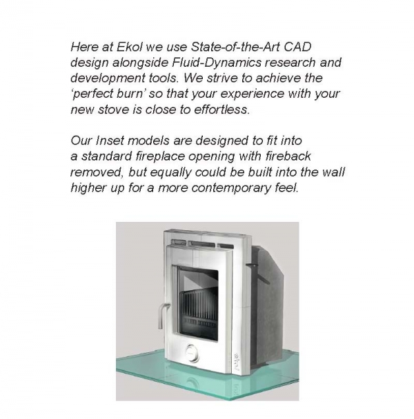 Ekol Inset 8 woodburning stove description