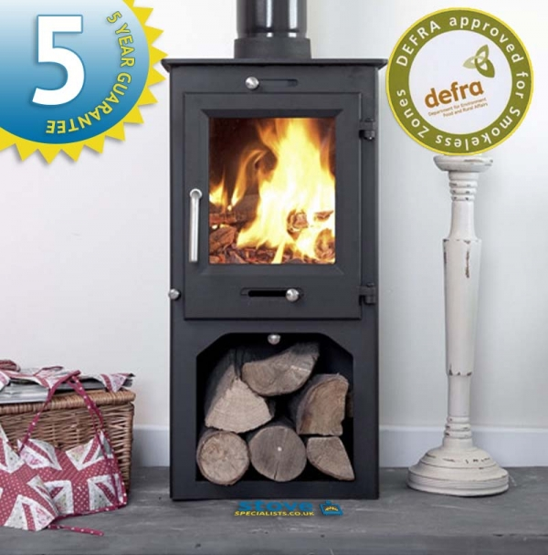 Ecosy+ Ottawa 5 with stand and wood store - woodturning stove