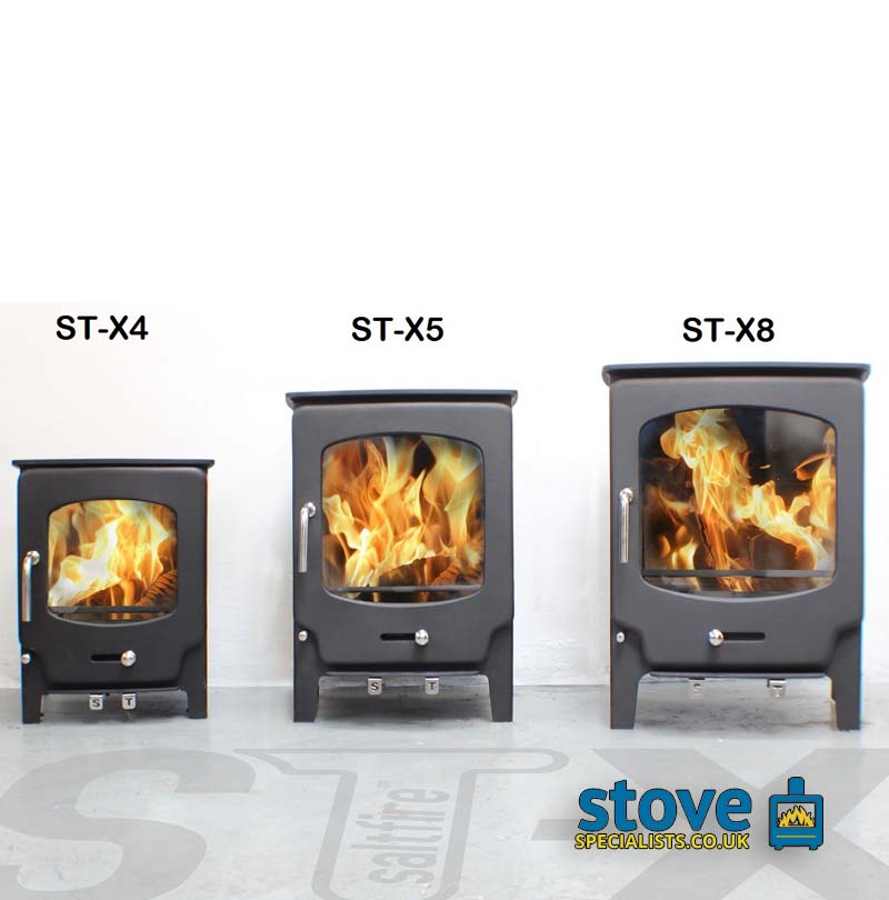 Saltfire St X5 Multi Fuel Woodburning Stove 5kw Great