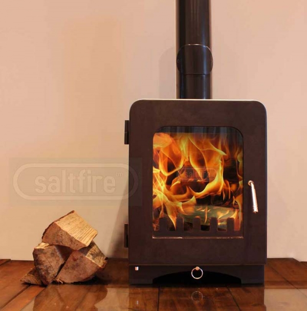 Saltfire ST2 woodburning stove front