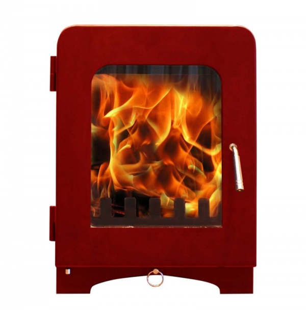Saltfire ST2 woodburning stove mojave red