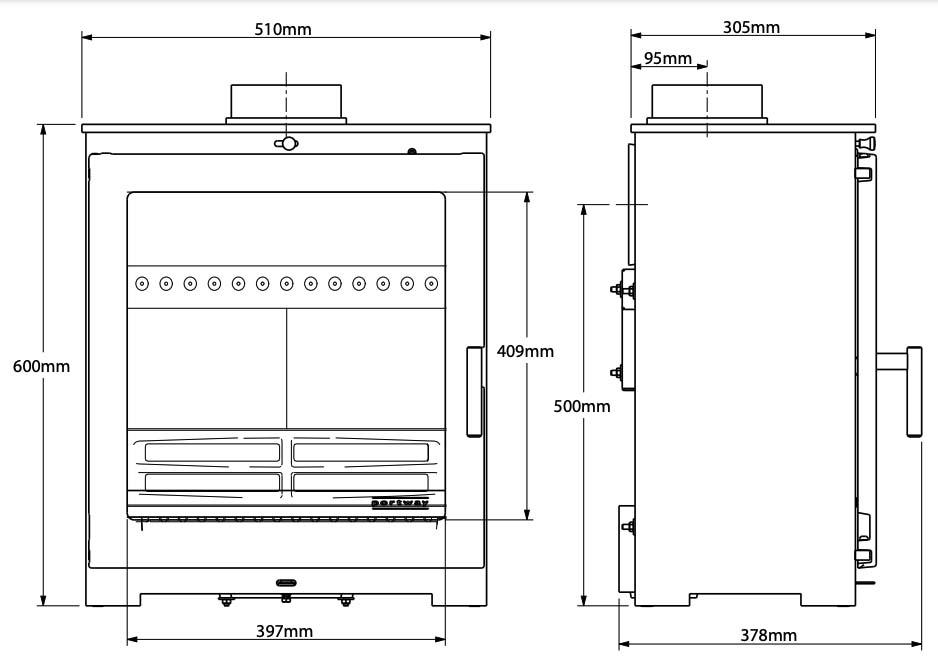 Portway Arundel XL Dimensions