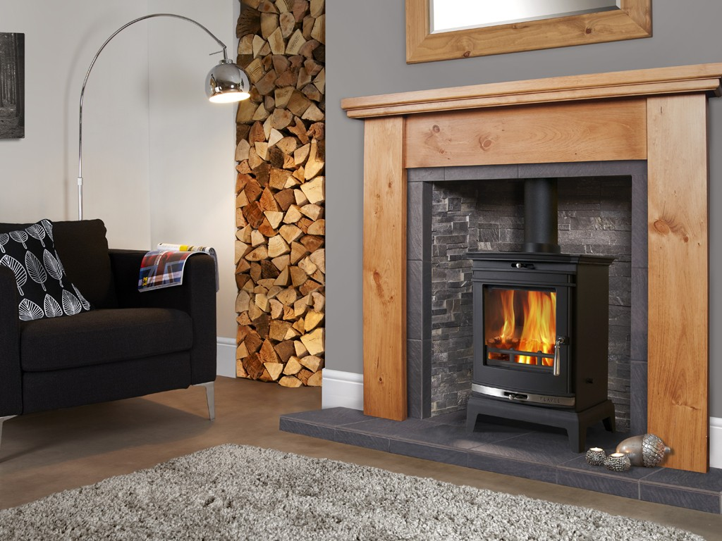 Flavel Rochester 5 Stove with polished silver trim