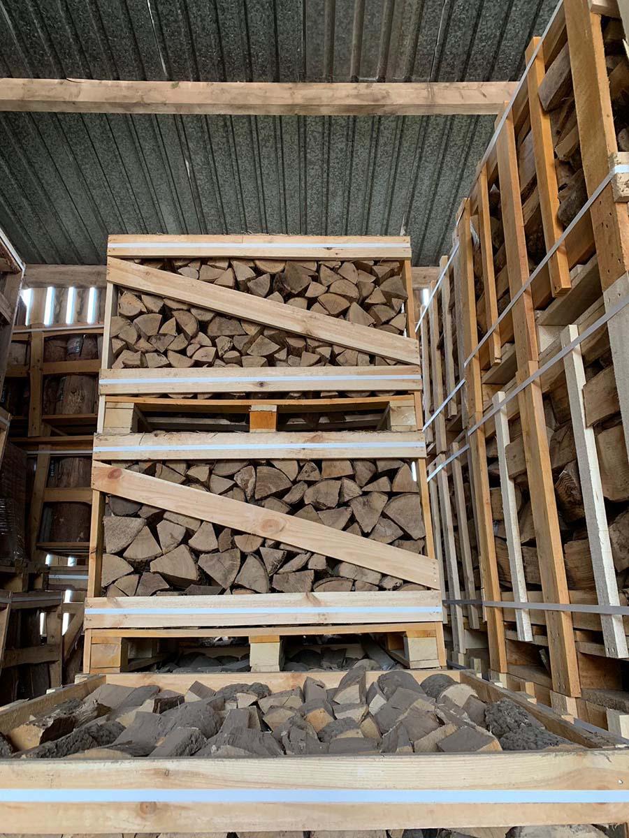 Kiln Dried Firewood 1m Cubed Crate Registered Hetas