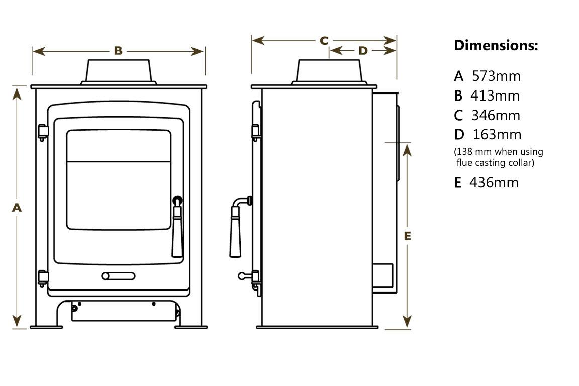 portway 1 contemporary gas stove dimensions