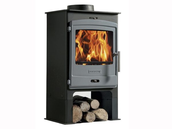 portway 1 multifuel stove for sale with log store