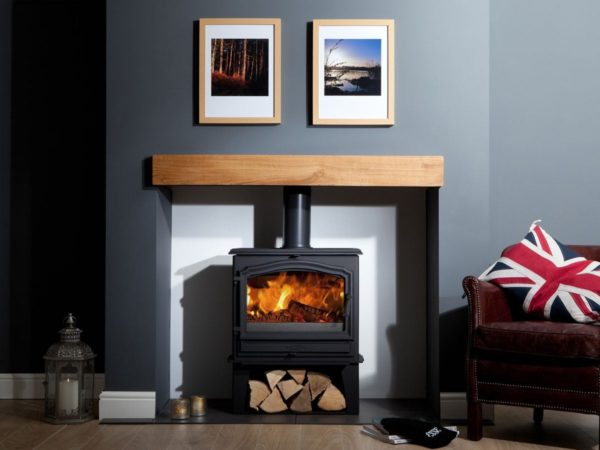 esse 100SE multifuel stove for sale with log store