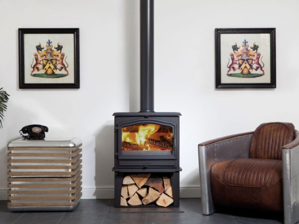 esse 100SE stove with log store for sale