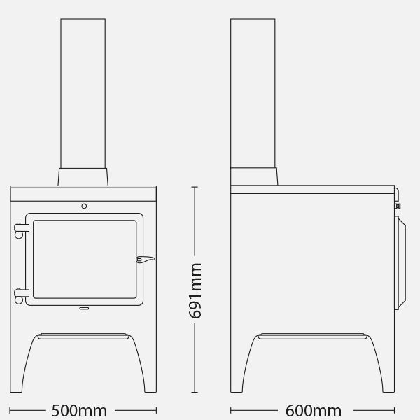 warmheart s stove dimensions