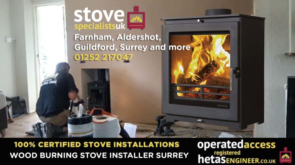Multi-fuel and wood burning stove installer Farnham, Guildford, Aldershot and Surrey